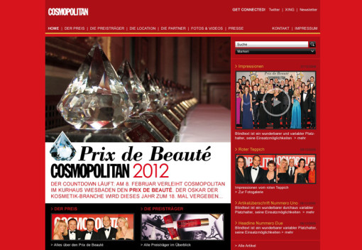 Cosmopolitan Prix de Beauté