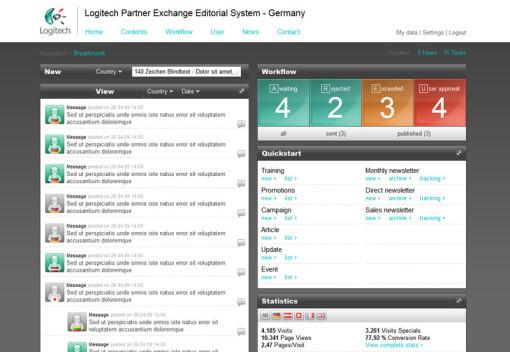 Logitech Partner Exchange Editorial System